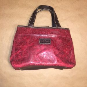 Relic by Fossil Paisley Embossed leather handbag